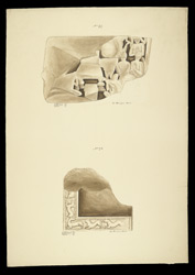 Fragments of sculpture from the Great Stupa of Amaravati